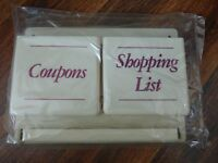 Vintage Shopping & Coupon Center In Box Plastic Hang On Wall Pen Key Hook