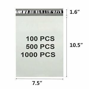 1000 10x13 ~ 80-7.5x10.5 ~ Poly Mailers Envelopes Bags Plastic Shipping Bag