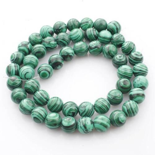 "Wholesale 15/"" Natural Malachite Gemstone Round Beads DIY Jewelry Making 4~12mm"