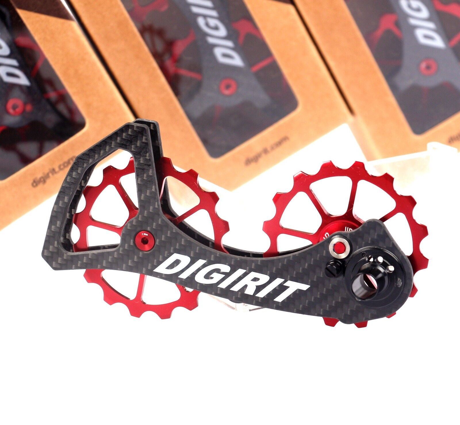 DIGIRIT oversized Pulley Wheel 16 16T Red System Carbon Cage Dura Ace Ultegra