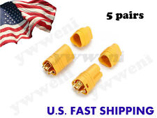5 pairs AMASS MT60 3.5mm 3-pole Bullet Connectors Plug Set For RC ESC to Motor
