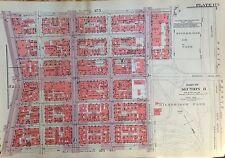 1955 INWOOD MANHATTAN 178TH-189TH STREET NYC G.W. BROMLEY PLAT ATLAS MAP 12X17