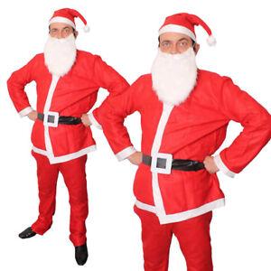 ADULTS-MENS-SANTA-COSTUME-5-PIECE-BARGAIN-FATHER-CHRISTMAS-SUIT-FANCY-DRESS