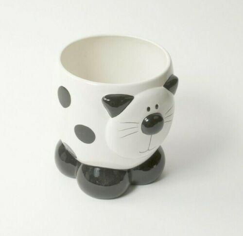 Cat Dustbin Waste Paper Bin Indoor Plant Pot Planter Novelty Cat Cream /& Black