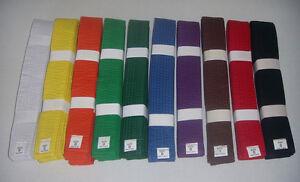 Solid Belts 4 cm Wide Double Wrap Sizing for Karate/Taekwondo/Judo/Kendo/Hapkido