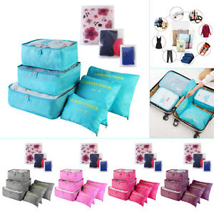 3ca46f238adf Details about 9 Pcs/Set Waterproof Clothes Storage Bags Packing Cube Travel  Luggage Organizer