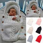 Baby Infant Kids Swaddle Wrap Warm Wool Knitted Swaddling Blanket Sleeping Bag