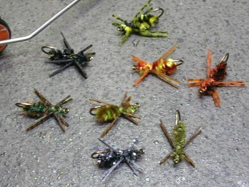 Gibson Brim Killers bluegill sunfish flies Variety 8-pack
