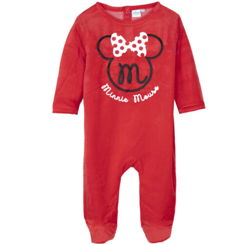 Disney Minnie Mouse Baby Babies Girls VELVET Sleepsuit Playsuit All in One 0-24m