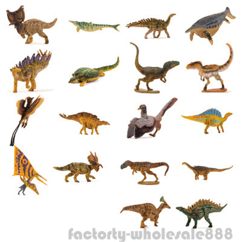 2018 Rare Kinder Dinosaurs Figure Kids Education Museum 18 Whole Set Model PNSO