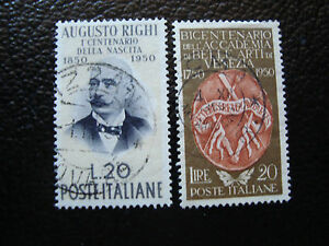 Italy-Stamp-Yvert-and-Tellier-N-570-571-Obl-A12-Stamp-Italy