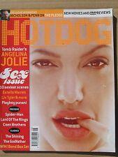 Hotdog magazine August 2001 Angelina Jolie Estella Warren Liv Tyler Hugh Hefner