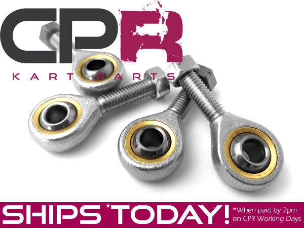 Go Kart Tie Rod Ends (2x PAIR) incl. Locking Nuts Premium Grade ENDMC1_2PK