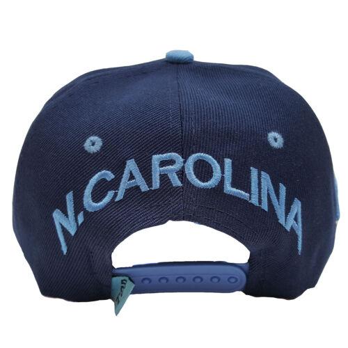 North Carolina Embroidered City View Under Brim Two Tone Snapback Hat Cap