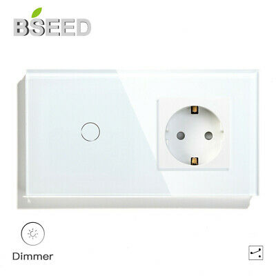 BSEED LED Dimmerschalter Touch Lichtschalter 1//2Fach Dimmerable Wechselschalter