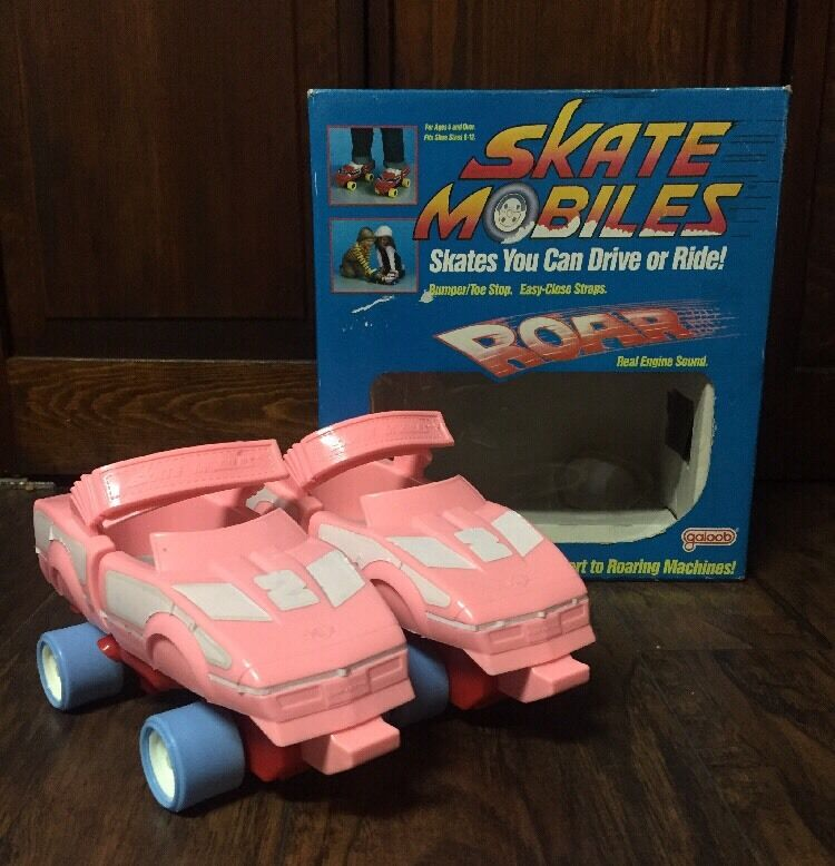 Rare Vtg 1986 1986 Vtg Rosa Free Wheeling Skate Mobiles w/Real Engine Sound in Box GUC f2fff8