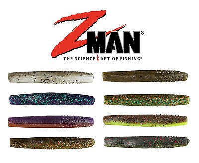 """Ned Rig 2-3//4"""" Worms Z-Man Finesse TRD Choice of Colors 8 per pack"""