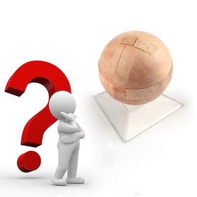 Intelligence Luban Lock Wooden Brain Teaser Puzzle Educational Toy Magic Ball