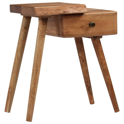 Details about  vidaXL Solid Acacia Wood Bedside Table Nightstand Drawer Storage Cabinet Stand
