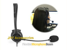 3.5mm Hands-Free Headset with Boom Mic for Home Office Cell Phones