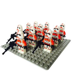 10pcs-Red-Clone-Trooper-Minifigures-Space-War-Captain-Rex-Lego-MOC