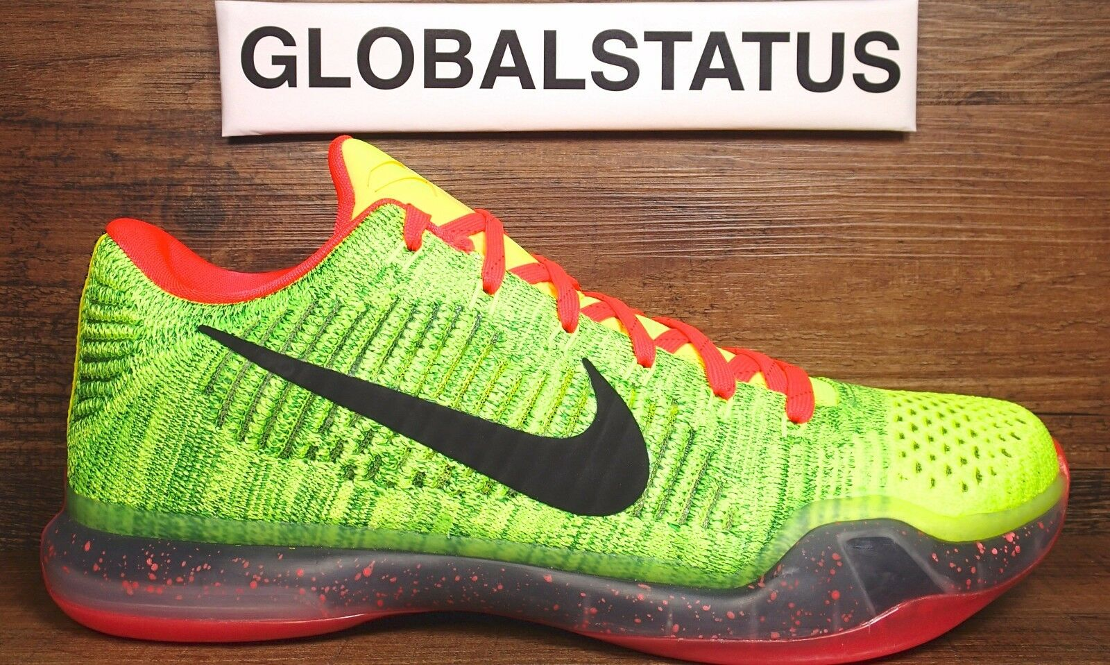 NIKE ID KOBE X 10 ELITE LOW GRINCH COAL HEARTED CUSTOM SHOES 802817 901 SZ 10.5