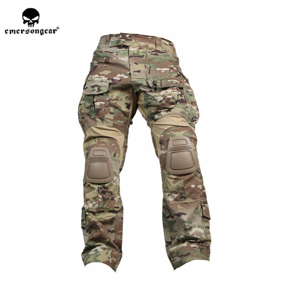 Emerson G3 Combat Hose Army Multicam Military Tactical Trouses w Knee Pads MC