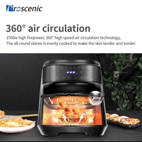 Proscenic 5.8qt Alexa Air Fryer 1700W Oven Oil Free Timer Temperature Control