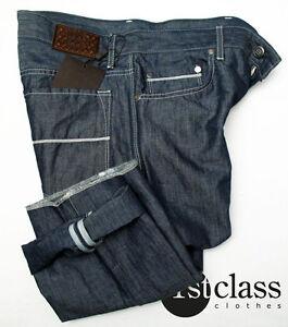 Boss-Seleccion-Jeans-Nuevo-Jersey-33-34-EN-AZUL-MARINO-CON-leinen-anteil