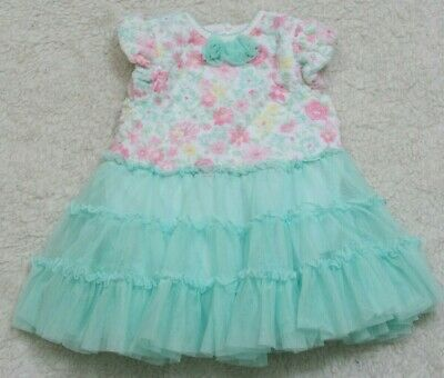 Dresses Special Section Little Me Girls Dress 18 M Cotton Spandex Easter Church Formal Lace Poly Mesh Convenient To Cook