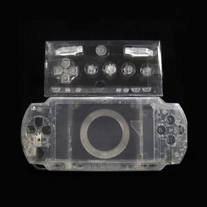 Clear-Full-Set-Shell-Case-Cover-For-Sony-PlayStation-Portable-PSP1000