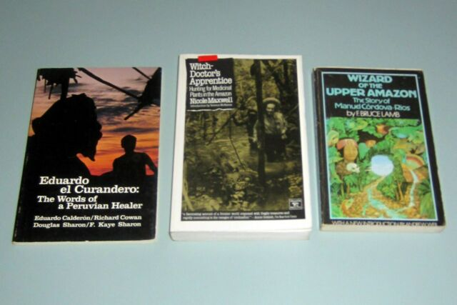 3 Books SHAMANISM AMAZON JUNGLES PSYCHEDELIC AYAHUASCA HEALING McKENNA Schultes