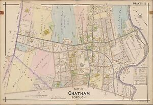 GREYSTONE PARK MORRIS PLAINS COUNTY ATLAS MAP 1910 HANOVER TOWNSHIP NEW JERSEY