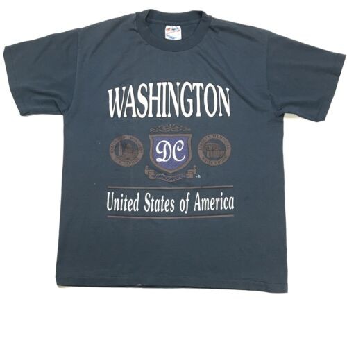 VTG WASHINGTON DC SPELL OUT SINGLE STITCH MADE IN
