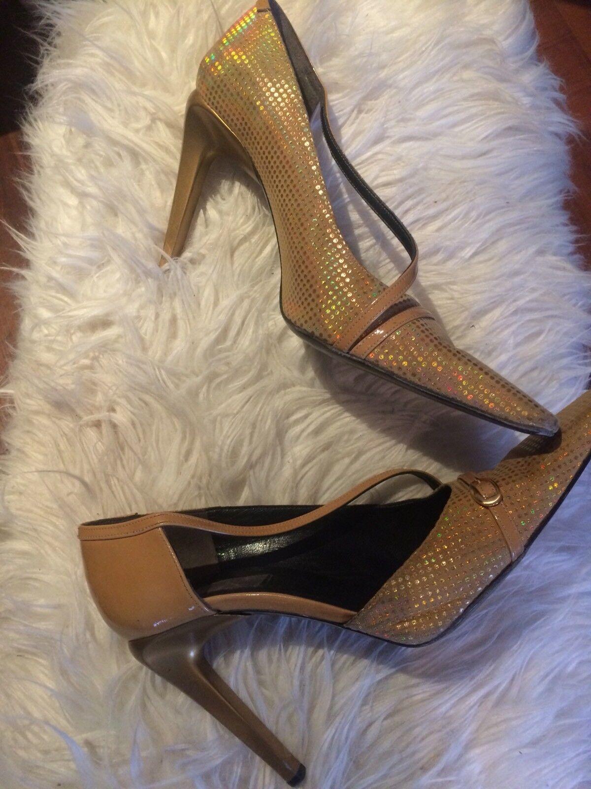 Escarpins vintage LAGERFELD US dorés - T. 7,5 US LAGERFELD / EU 38,5 gold disco shoes deb29e