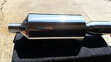 Sports Vortex Stainless Steel Polished Universal Back Box Silencer