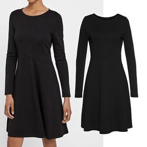 genial-Kleid-Kleines-Schwarzes-Gr-38-40-griffig-Jerseykleid-Shirtkleid-schwarz