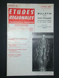 Bulletin SELM 1968 - Langue limousine : patois ou langue M. Maurice (lexique)