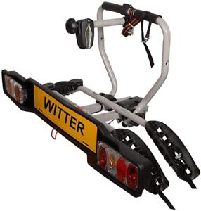 Witter-ZX202EU-Fahrradtraeger-fuer-Anhaengerkupplung-AHK-fuer-2-Fahrraeder-abklappbar