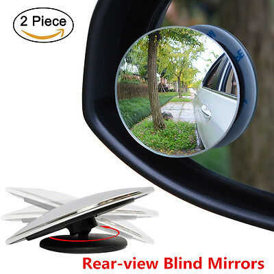 """Universal 2"""" Round Rear-view Blind Spot Mirrors Wide Angle Car Exterior Mirrors"""