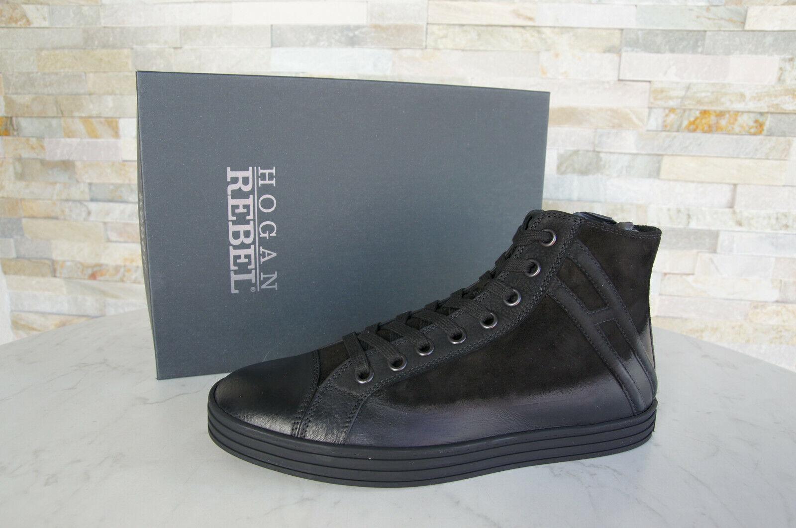 Hogan 8,5 42,5 top zapatillas vintage schnürzapatos nuevo zapatos negro ehemuvp