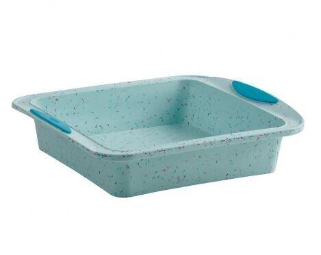 Trudeau Blue Confetti Silicone Square Cake Pan