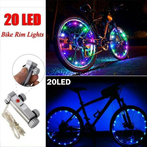 Details about  /LED Bicycle Bike Cycling Rim String Lights Open /& Close Wheel Spoke Waterproof ^