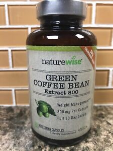 NatureWise Green Coffee Bean Extract 800 with GCA Natural Weight Loss Exp 01/20