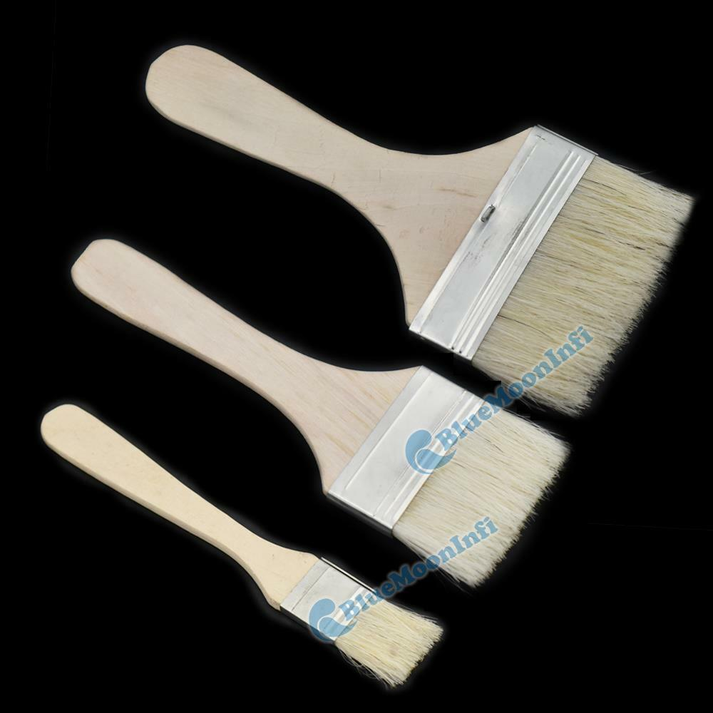 Wooden Handle Brushes Bristles Adhesives Paint Touchup Brush Supply 25 50 75mm U