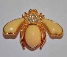 "JOAN RIVERS FAUX IVORY ""TIMELESS""  BEE PIN BROOCH - RARE - MINT CONDITION"