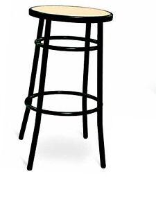 Sgabelli Senza Schienale.Dettagli Su Sgabello Medio Per Bar Cucina In Metallo Senza Schienale Finta Paglia Nero