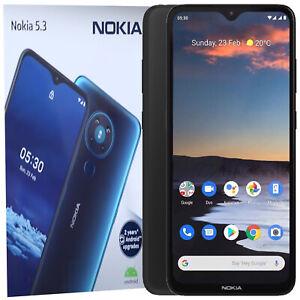 BINB Nokia 5.3 double sim 64 Go + 4 Go Noir Débloqué 4 G/LITE simfree