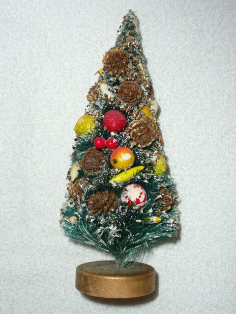 Vintage DECORATED BOTTLE BRUSH TREE 9