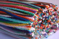 25 x Cotton Pipe Cleaner / Craft Stems (15cm length ) - Choose from 15 colours